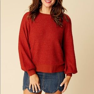 Altar'd State Nubby Pullover Sweater Rust B182